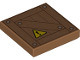 Part No: 3068bpb1191  Name: Tile 2 x 2 with Groove with Crate and Yellow Warning Triangle Pattern