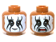 Part No: 3626cpb0944  Name: Minifigure, Head Dual Sided Face Paint, Smile / Mouth Open Scared Pattern (Tonto) - Hollow Stud
