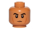 Part No: 3626cpb1353  Name: Minifigure, Head Black Eyebrows, Cheek Lines, Chin Dimple, White Pupils Pattern - Hollow Stud
