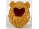 Part No: 49109pb01  Name: Minifigure, Hair Lion's Mane with Nougat Cat Ears Pattern
