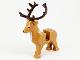 Part No: 51493c01pb01  Name: Deer with Dark Brown Antlers (Stag, Reindeer)