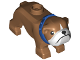 Part No: 65388pb02  Name: Dog, Bulldog with White Muzzle and Blue Collar Pattern