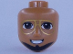 Part No: 72422  Name: Mini Doll, Head Friends Male with Brown Eyes, Gold Glasses, Black Beard and Broad Smile Pattern