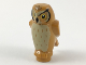 Part No: 92084pb04  Name: Owl, Angular Features with Black Beak and Forehead Spots, Yellow Eyes and Tan Chest Feathers Pattern