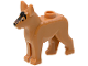 Part No: 92586pb01  Name: Dog, Alsatian / German Shepherd with Black Eyes, Nose, Blaze and Dark Brown Muzzle Pattern