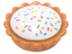 Part No: 93568pb004  Name: Pie with White Cream Filling and Sprinkles Pattern Pattern (BAM)