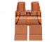 Part No: 970c00pb1029  Name: Hips and Legs with SW 3 Orange Belts and Dark Tan Lines Pattern