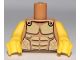Part No: 973pb0721c01  Name: Torso Armor with Gold Plated Muscles Outline Pattern (Spartan) / Yellow Arms / Yellow Hands