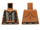 Part No: 973pb1462  Name: Torso Bare Chest with Beaded Armor, Fur and Gold Minifigure Pendant Pattern