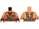 Part No: 973pb2050c01  Name: Torso SW Naboo Fighter Jacket Dark Red Shirt, Reddish Brown Belt, Dark Bluish Gray Harness Pattern / Medium Nougat Arms / Reddish Brown Hands