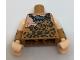 Part No: 973pb2563c01  Name: Torso Batman Muscles Outline with Animal Print Top and Stone Batman Logo Pendant Pattern / Fur Cuffs with Light Flesh Upper Arms / Light Flesh Hands