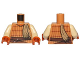 Part No: 973pb2686c01  Name: Torso SW Skiff Guard Pattern / Tan Arms / Dark Orange Hands
