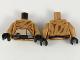 Part No: 973pb3272c01  Name: Torso Fur Coat over Tan Top, Black Belt with 4 Cartridges Pattern / Medium Dark Flesh Arms / Black Hands