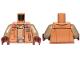 Part No: 973pb3717c01  Name: Torso SW Jacket with Pockets and Gadgets, Dark Tan Undershirt Pattern / Dark Tan Arms / Reddish Brown Hands