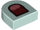 Part No: 24246pb014  Name: Tile, Round 1 x 1 Half Circle Extended (Stadium) with Coral Tongue and Dark Red Mouth Pattern