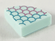 Part No: 25269pb018  Name: Tile, Round 1 x 1 Quarter with Metallic Blue and Pink Scale Outlines Pattern