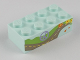 Part No: 3001pb083  Name: Brick 2 x 4 with Peace Symbol, Road, and Flowers Pattern