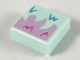 Part No: 3070bpb209  Name: Tile 1 x 1 with Groove with Bright Pink or Light Aqua Monster Legs Pattern