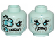 Part No: 3626cpb2376  Name: Minifigure, Head Dual Sided Wrinkles, Teeth, Ice Spikes Covering Right Eye / Angry Pattern - Hollow Stud