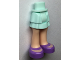 Part No: 92250c00pb21  Name: Mini Doll Friends Hips and Layered Skirt, Light Nougat Legs and Medium Lavender Shoes with Open Fronts Pattern