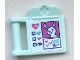 Part No: 98393bpb07  Name: Friends Accessories Medical Clipboard with Rabbit, Hearts, Eye and Paw Print Pattern (Sticker) - Set 41345