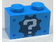 Part No: 3004pb042  Name: Brick 1 x 2 with Gear and Question Mark Pattern (Sticker) - Set 71380