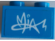 Part No: 3004pb228  Name: Brick 1 x 2 with 'MIA' Signature Graffiti Pattern (Sticker) - Set 41327
