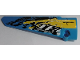 Part No: 64681pb042  Name: Technic, Panel Fairing # 5 Long Smooth, Side A with 'XRFUEL', 'TR TRACKED RACER' and Black, Yellow and White Splotches Pattern (Sticker) - Set 42095