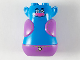 Part No: 65265pb01  Name: Torso Large with Head, Trolls, 4 Studs on Top, Medium Lavender Vest and Pants Pattern