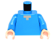 Part No: 973pb1813c01  Name: Torso Pixelated Light Nougat Neck Pattern (Minecraft Steve) / Dark Azure Arms / Light Nougat Hands