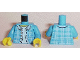 Part No: 973pb2148c01  Name: Torso Plaid Jacket with Collar, Buttons and Light Blue Undershirt Pattern / Dark Azure Arms / Yellow Hands