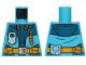 Part No: 973pb3142  Name: Torso Jacket with Monitor Device, Bright Light Orange Belt and Zipper Pocket Pattern