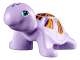 Part No: 11603pb02  Name: Turtle, Friends / Elves with Medium Azure Eyes, Dark Purple Spots, and Dark Purple and Bright Light Orange Shell Pattern