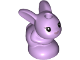 Part No: 18852pb02  Name: Bunny / Rabbit, Friends, Baby, Sitting with Black Eyes and Metallic Pink Nose Pattern