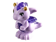 Part No: 26090pb02  Name: Dragon, Elves, Baby with Trans-Purple Stomach, Spines and Wings and Gold Horns Pattern (Fledge)