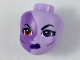 Part No: 33815  Name: Mini Doll, Head Friends with Medium Lavender Right Half, Red Right Eye, Dark Purple Left Eye and Lips Pattern (Eclipso)