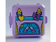 Part No: 64462pb06  Name: Container, Box 3 x 8 x 6 2/3 Half Front with Backpack with Ballet Shoes, Yellow Heart and Medium Lavender Bow Pattern