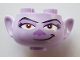 Part No: 65461pb08  Name: Minifigure, Head Modified Trolls Barb Pattern