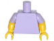 Part No: 973c65  Name: Torso Plain / Yellow Arms with Lavender Short Sleeves Pattern / Yellow Hands