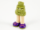 Part No: 11202c00pb15  Name: Mini Doll Friends Hips and Shorts, Light Nougat Legs and Coral Laces on Dark Purple and Olive Green Shoes Pattern