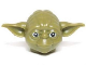 Part No: 13195pb01  Name: Minifigure, Head Modified SW Yoda Curved Ears with Black Eyes and White Pupils Pattern