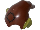 Part No: 18984pb01  Name: Minifigure, Headgear Hat, Elf Drooping with Pointed Ears with Reddish Brown Top and Patch Pattern
