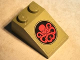 Part No: 3298pb063  Name: Slope 33 3 x 2 with Red Hydra Logo in Black Circle on Olive Green Background Pattern (Sticker) - Set 76017