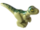 Part No: 37829pb05  Name: Dinosaur, Baby, Standing with Dark Green Markings and Yellow Eyes Pattern