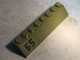 Part No: 4445pb03R  Name: Slope 45 2 x 8 with Black '65' on Olive Green Background Pattern Model Right Side (Sticker) - Set 76017