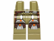 Part No: 970c00pb0273  Name: Hips and Legs with SW Armor with Silver and Brown Markings Pattern