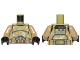 Part No: 973pb1590c01  Name: Torso SW Armor Camouflage Kashyyyk Clone Trooper Pattern / Dark Tan Arms / Black Hands
