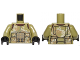 Part No: 973pb1591c01  Name: Torso SW Armor Camouflage Elite Corps Trooper Pattern / Olive Green Arms / Black Hands