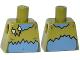 Part No: 973pb1854  Name: Torso Ragged Crop Top with Bone Clasp Pattern (Lady Cyclops)