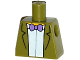 Part No: 973pb2006  Name: Torso Simpsons Jacket, White Shirt and Purple Bow Tie Pattern